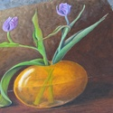 Tulipánok olajfestmény, Képzőművészet, Festmény, Olajfestmény, Festészet, Olajfestékkel készült kép.  Mérete 40*40 cm  Feszített vászonra festettem. Szélei is festettek, így..., Meska