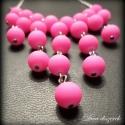 Mini Zuhatag nyaklánc neon pink színben, Vagány, feltűnő, igazi nyári hanglatú nyakék...