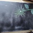 Virág az éjben, Képzőművészet, Festmény, Akril, Festészet, Feszített vászonra festett akril kép. Nagy méretű. , Meska