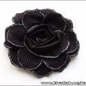 Bársony virág kitűző, bármilyen színben kérheted, Ékszer, Bross, kitűző, A virág kitűző átmérője 10-12 cm körül van. Anyaga fekete színű bársony.  Jól illik kabátokra, táská..., Meska