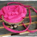 Romantikus kapcsos pink kistáska, óriás pénztárca, Vidám, fiatalos, könnyed, nőies kistáska, vagy...