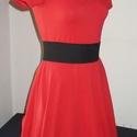 Akciós! Piros pamut nyári ruha M-es méret, Ruha, divat, cipő, Női ruha, Ruha, A ruha anyaga pamut. Derekánál szabott. A fekete gumis öv a derekán nem tartozék, de rendelhető hozz..., Meska