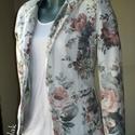 Akciós! Virágmintás nyári pamut blézer S-méret, A blézer vékony selyemmel bélelt, így a hűvö...