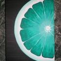 Lime akrilfestmény 20x30, Otthon, lakberendezés, Dekoráció, Falikép, Kép, Festészet, Ezt a képet egy narancsos internetes forrás ihlette. A sorozat második része.   Akrilfestmény Munká..., Meska