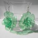 LEFOGLALVA! PET palack újrahasznosításával készített fülbevaló XL-es, LEFOGLALVA 2013.04.24-IG!  PET palackból készít...