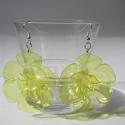 LEFOGLALVA! PET palack újrahasznosításával készített sárga fülbevaló XL-es, LEFOGLALVA 2013.04.24-IG!  PET palackból készít...
