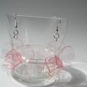 LEFOGLALVA! PET palack újrahasznosításával készített rózsaszín fülbevaló XL-es, LEFOGLALVA 2013.04.24-IG!  PET palackból készít...