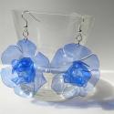 LEFOGLALVA! PET palack újrahasznosításával készített kék fülbevaló XL-es, LEFOGLALVA 2013.04.24-IG!  PET palackból készít...