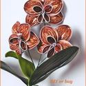 Nespresso kapszulából készített orchidea, Dekoráció, Képzőművészet, Otthon, lakberendezés, Csokor, Nespresso kapszula újrahasznosításával készítettem ezt az orchideát.  Magassága: kb. 28 cm  Színe: b..., Meska