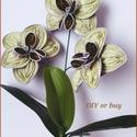 Nespresso kapszulából készített orchidea, Dekoráció, Képzőművészet, Otthon, lakberendezés, Csokor, Nespresso kapszula újrahasznosításával készítettem ezt az orchideát.  Magassága: kb. 28 cm  Színe: v..., Meska