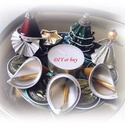 Nespresso kapszulából készített karácsonyi asztali dísz, Dekoráció, Otthon, lakberendezés, Dísz, Asztaldísz, Nespresso kapszula újrahasznosításával készítettem ezt az egyedi karácsonyi asztali díszt  M..., Meska