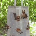 Akciós! SZATYORKA, Táska, Szatyor, Varrás, 1500. forint helyett: 990. forint.  Késztermék.  Cuki cicák és kutyusok mintás vászonból készült.  ..., Meska
