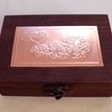 Valentin-napi ékszertartó dobozka, Otthon, lakberendezés, Tárolóeszköz, Doboz, Mára a hazai ünnepek között is megtalálta a helyét a Valentin-nap, amelyhez a legtöbbször jelképes a..., Meska