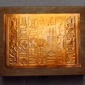 Hieroglifás dobozka =, Otthon, lakberendezés, Tárolóeszköz, Doboz, A hieroglifák talányosak, akár egy dobozka tartalma.  A különösen kifinomult, kézzel domborított min..., Meska