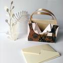 Egyedi, kisméretű papír ajándéktáska - Macska, Mindenmás, Papírművészet, Pénzzel, vagy ajándékkártyával szeretnéd meglepni szeretteid? Esetleg a névjegykártyádat szeretnéd ..., Meska