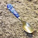 Álomvirágos kiskanál, Konyhafelszerelés, Otthon, lakberendezés, Mindenmás, Gyurma, Süthető gyurmával készült  rozsdamentes acél kiskanál. Rajta kék gyurmából szép virágok. Bájos kis ..., Meska