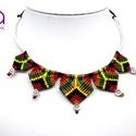 """""""Arwen"""" makramé nyaklánc - Jamaica, Ékszer, Nyaklánc, """"Arwen"""" makramé nyaklánc, Jamaica színeiben.  6 különböző színű, kiváló minőségű nylon fonallal kész..., Meska"""