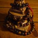 Egyedi tigrisszem, macskaszem, sólyomszem mix 108 szemes tradicionális buddhista mala állítható kötéssel, Ékszer, Mindenmás, Nyaklánc, Vallási tárgyak, Csomózás, Gyöngyfűzés, Ezt a fényesen csillogó tigrisszem mix malát pamut zsinorra fűztem, a gyöngyök mozgékonyságáról az ..., Meska