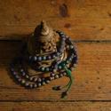 Egyedi geódás achát 108 szemes tradicionális buddhista mala állítható kötéssel, Mindenmás, Ékszer, Vallási tárgyak, Nyaklánc, Csomózás, Ékszerkészítés, Ezt a csodaszép, a szivárvány összes színében pompázó 108 szemes malát tradicionális tibeti állítha..., Meska