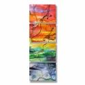 Tájkép tóval festmény reprodukció 10/10., Ez az absztrakt festmény 4 részből áll (robban...