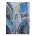 Templom kertben akvarell festmény, Otthon & lakás, Dekoráció, Kép, Képzőművészet, Festmény, Egy gyönyörű spanyol templom kertjében sétálva ragadott el az épület látványa, melyet akvarell festé..., Meska