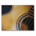 Gitár pasztellkréta rajz, Sokak kedvenc hangszerét vetettem papírra. Nekem...