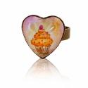 Muffin szív alakú gyűrű, Hordj magadon festményt!  Saját festményemet fo...