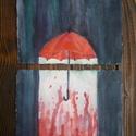 Szerelem-eső akvarell festmény, robbantott festmény, 2 részes kép, Otthon & lakás, Képzőművészet, Festmény, Akvarell, Dekoráció, Szerelem-eső két részes robbantott akvarell festmény. (egyenként 21x15cm)  Ha hasonló képet szeretné..., Meska