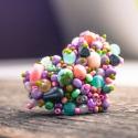 Szívecskés nyári cukorka színű nagyméretű egyedi gyűrű, Ékszer, Esküvő, Gyűrű, Szívecske formájú nyári cukorka színű, állítható méretű gyűrű   Imádom a hatalmas gyűrűket, amik önm..., Meska