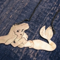 Disney Kishableány Ariel Disney Hercegnő nyaklánc, Ékszer, Nyaklánc, Medál, Disney Kishableány Ariel Disney Hercegnő nyaklánc  + Disney Kishableány nyaklánc, kézzel fűrészelt, ..., Meska
