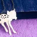 Bambi Disney nyaklánc Őz nyaklánc, Ékszer, Nyaklánc, Medál, Ez a tündéri medál kézzel lett kivágva, vésve, polírozva, hogyha rápillantasz ugyanolyan aranyosan m..., Meska