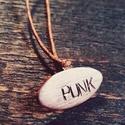 Punk nyaklánc, Punk ékszer, cuki ékszer, zenés ékszer, Ékszer, Mindenmás, Nyaklánc, Medál, Punk nyaklánc, Punk ékszer, cuki ékszer, zenés ékszer Üzenj a világnak a nyakláncoddal! Imádod   kut..., Meska