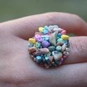 Illatos köralakú nyári cukorka színű, állítható méretű gyűrű , Ékszer, Mindenmás, Gyűrű, Illatos köralakú nyári cukorka színű, állítható méretű gyűrű - cukorka illatban! Imádom..., Meska