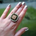 Pisztáciafagyi illatú, különleges, állítható méretű gyűrű!, Ékszer, Mindenmás, Gyűrű, Pisztáciafagyi illatú, különleges, állítható méretű gyűrű! Imádom a hatalmas gyűrűket,..., Meska