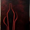 Borozunk mámor , Művészet, Festmény, Akril, Festészet, Eladásra kínálom 30x40cm borozunk mamor cimu festmenyem. Akryallal festve szelein festve.  Mészáros..., Meska