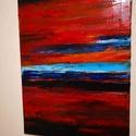 Színkavalkád , Művészet, Festmény, Olajfestmény, Festészet, A színkavalkád cimu festményem 30x40cm olajjal festett feszített vászonra. Éles eros impulzív színe..., Meska