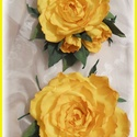 Sárga rózsa szett  dekorgumi, Dekoráció, Esküvő, Dísz, Hajdísz, ruhadísz, Mindenmás, Élethű rózsa kitűző bármilyen alkalomra nagyon elegáns. Rózsa átmérője 12cm + levél Felszerelvényez..., Meska