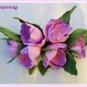 Rózsaszínű virágfüzér dekorgumi, Dekoráció, Esküvő, Dísz, Esküvői dekoráció, Mindenmás, Élethű virágfüzér  dekorgumiból. Bármilyen alkalomra nagyon elegáns. Mérete: 15 x 9 cm +  levelek H..., Meska