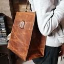 Antikolt marhabőr táska, Táska & Tok, Kézitáska & válltáska, Válltáska, Bőrművesség, Nagyon különleges az antik hatású marhabőr,amelyből ez a táska készült. A táka minimál tervezésű, b..., Meska