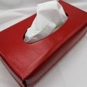 Papírzsepkendő box, Otthon & Lakás, Tárolás & Rendszerezés, Zsebkendőtartó, Bőrművesség, Sokan használják már a dobozos papírzsebkendőket,melyeket el lehet helyezni a lakás különböző pontj..., Meska