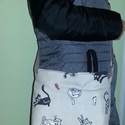 Cicás táska, Táska, Ruha, divat, cipő, Válltáska, oldaltáska, Tarisznya, Macska mintás női válltáska  Vagy akár kislányoknak is tökéletes ajándék.   Elején sok cica. Zipzárr..., Meska