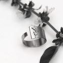 Tulipános gyűrű, Ékszer, óra, Gyűrű, Ékszerkészítés, Fémmegmunkálás, Tulipános gyűrű. Nyitott így állítható is a gyűrű. Kényelmes és kedves gyűrű.  A gyűrű szélessége a..., Meska