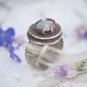 Köves gyűrű, Ékszer, óra, Gyűrű, Ez a gyűrűm kő, féldrágakő és réz ötvözése. Az ékszereim jelentősebb része ezüstből ..., Meska