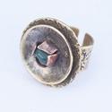 Köves gyűrű, Ékszer, óra, Gyűrű, Köves tányéros gyűrű. Az ékszereim jelentősebb része ezüstből készül, de szeretek más a..., Meska