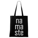 Namaste táska, Jógatáska, Shopper Bag, Yoga bag, Ruha, divat, cipő, Táska, Mindenmás, Válltáska, oldaltáska, 42 x 38 cm,100% pamutvászon  Trendi design. Kézi szitanyomás. A nyomatokhoz nem használtunk káros an..., Meska