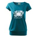 Női Lotusz city póló, Lotusz, Namaste, Ruha, divat, cipő, Mindenmás, Női ruha, Felsőrész, póló, 100% pamut,  150 g/m  Trendi design. Kézi szitanyomás. A nyomatokhoz nem használtunk káros anyagokat..., Meska