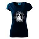 Női Buddha póló, Budha, India, jóga, Yoga, shirt, Namaste, mandala, Ruha, divat, cipő, Mindenmás, Női ruha, Felsőrész, póló, Mindenmás, Fotó, grafika, rajz, illusztráció, 150 g/m2, 100% pamut,  végső szilikonos kezelés  Trendi design. Kézi szitanyomás. A nyomatokhoz nem..., Meska