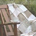 Patchwork takaró , Otthon, lakberendezés, Lakástextil, Takaró, ágytakaró, Patchwork takaró romantikus stílusban.  Igényes pamut textilből összeállított takaró, melyne..., Meska