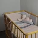 Rózsaszín-szürke baba ágynemű szett