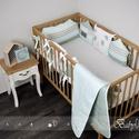 Menta - házikós baba ágynemű szett